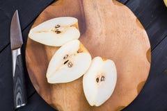Der Birne Chinese geschnitten auf a Stockfotografie