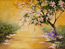 Der blühende Baum stockfoto