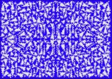 Der blaue abstrakte Hintergrund, der Eisblume simuliert Stockfoto