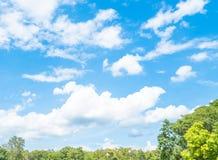 Der blaue Himmel stockbild