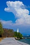 Der blaue Himmel und die weiße Wolke Lizenzfreie Stockfotos