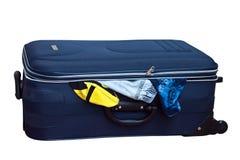 Der blaue Koffer Stockbilder