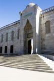 Der blaue Moschee-Türeinstieg in Istanbul die Türkei Stockbild