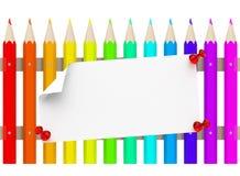 Der Bleistiftzaun Stockbilder
