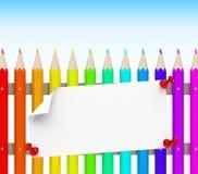Der Bleistiftzaun Stockbild