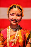 Der Blick der Frau in Assam Lizenzfreie Stockfotografie