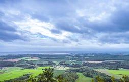 Der Blick weg von (Annapolis-Tal, Nova Scotia) Lizenzfreies Stockfoto