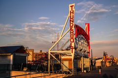 Der Blitz bei Coney Island, Brooklyn Stockfotos