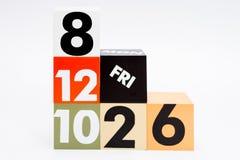 Der Block stellt dar, dass die Zahl, die darstellt, die Zeit ablief und Lizenzfreie Stockbilder