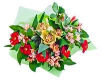 Der Blumenstrauß der Blumen Lizenzfreies Stockfoto