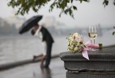 Der Blumenstrauß der Braut Stockfoto