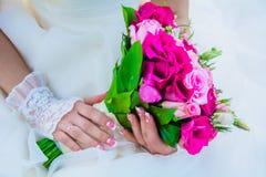 Der Blumenstrauß der Braut Stockfotografie