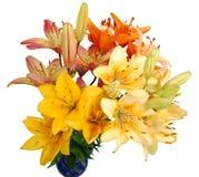 Der Blumenstrauß der lillys Lizenzfreies Stockbild
