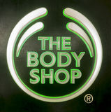 Der Body Shop-Signage Lizenzfreie Stockfotos