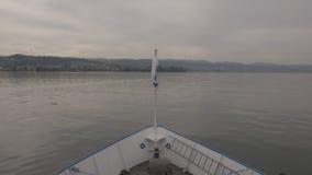 Der Bogen der Fähre in Meer stock video footage