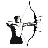 Der Bogenschütze Stockfoto