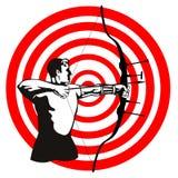 Der Bogenschütze stock abbildung