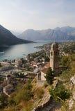 Der Boko Kotor Schacht. Adriatisches Meer. Montenegro Stockbilder