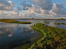 Der Bolsa Chica Ecological Preserve u. Sumpfgebiete im Huntington Beach, Kalifornien stockbilder