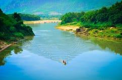 Der Bonfluß bei Vietnam stockbilder