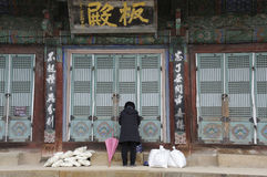 Der Bongeunsa-Tempel Stockbilder