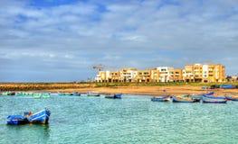 Der Bou Regreg-Fluss zwischen Rabat und Verkauf in Marokko stockfotos