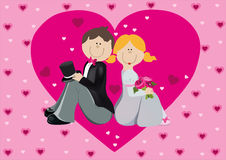 Der Bräutigam und die Braut Stockbild
