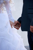 Der Bräutigam und die Braut Stockfotos