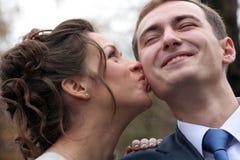 Der Bräutigam und die Braut Stockfotografie