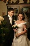Der Bräutigam und die Braut zusammen Lizenzfreies Stockbild
