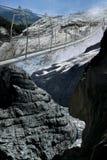 Der Brücke obere Grindelwald Gletscher Stockfotos