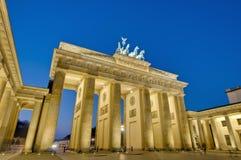 Der Brandenburger Felsen in Berlin, Deutschland Stockfoto