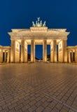 Der Brandenburger-Felsen in Berlin nachts Stockfotografie