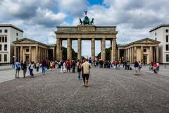 Der Brandenburger-Felsen (Brandenburger Tor) in Berlin, Deutschland Stockbild