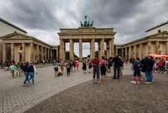Der Brandenburger-Felsen (Brandenburger Tor) in Berlin, Deutschland Lizenzfreie Stockbilder