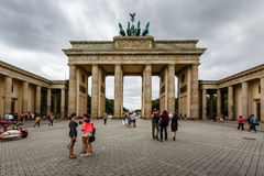 Der Brandenburger-Felsen (Brandenburger Tor) in Berlin, Deutschland Stockbilder