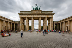 Der Brandenburger-Felsen (Brandenburger Tor) in Berlin, Deutschland Stockfoto