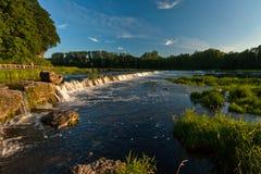 Der breiteste Wasserfall in Europa Venta Lizenzfreie Stockbilder