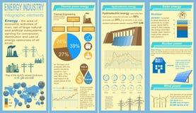 Der Brennstoff und Energiewirtschaft, die infographic sind, stellten Elemente für die Schaffung ein Lizenzfreie Stockbilder