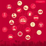 Der Brennstoff und Energiewirtschaft, die infographic sind, stellten Elemente für die Schaffung ein Stockfotos