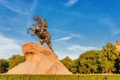 Der Bronzereiter St Petersburg Lizenzfreie Stockfotografie