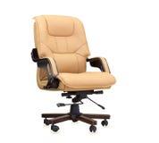 der b rostuhl vom beige leder stockfoto bild 42935667. Black Bedroom Furniture Sets. Home Design Ideas