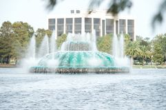 Der Brunnen auf See Eola Stockfotografie