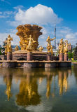 Der Brunnen der Freundschaft von Nationen in Moskau, Russland Lizenzfreie Stockfotos