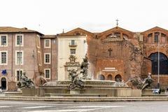 Der Brunnen der Najaden mitten in Marktplatz della Repubbl stockfotografie