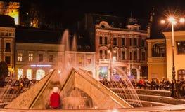 Der Brunnen der Stadt stockfoto