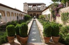 Der Brunnen von Alhambra Palace in Granada, Andalusien, Spanien, Europa Stockbild