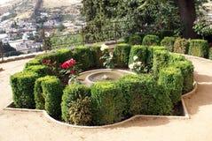 Der Brunnen von Alhambra-Palast in Granada, Andalusien, Spanien Stockfotos