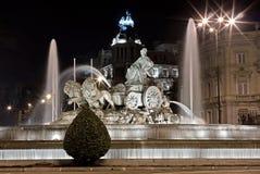Der Brunnen von Cibeles, Madrid Lizenzfreies Stockfoto