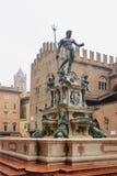 Der Brunnen von Neptun, Bologna lizenzfreies stockbild